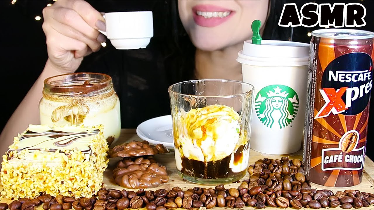 HER ŞEY KAHVELİ ASMR PARTİ | Affogato, Starbucks Pastası, Tiramisu, Kahve, Çikolata | Asmr Türkçe