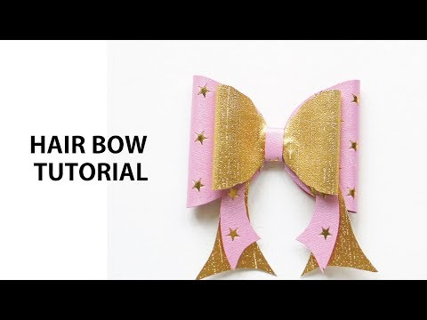 How to make Easy Hair Bow Template Step By Step Tutorial