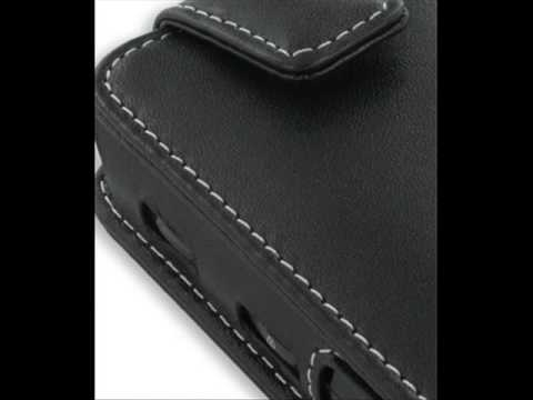 PDair Leather Case for Samsung Behold SGH-T919 - Flip Type (Black)