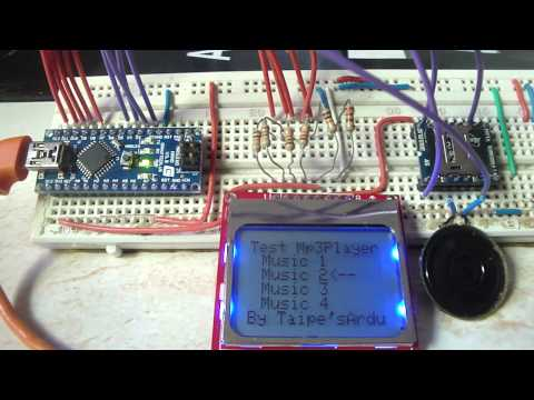 Testing MP3 Player Module Connected Arduino Nano Board