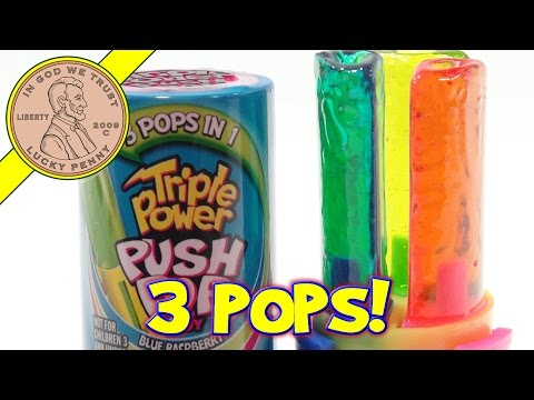 Triple Power Push Pop Candy, 3 Pops In 1!
