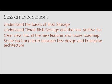 Azure Blob Storage: Scalable, efficient storage for PBs of unstructured data - BRK2256