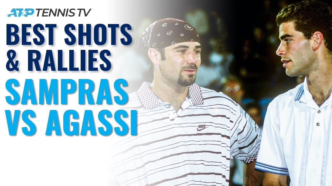 Pete Sampras vs Andre Agassi: Best ATP Shots & Rallies!