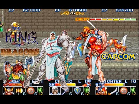 The King of Dragons (arcade) 3p Co-operate Hardest no miss Playthrough