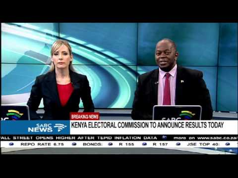 BREAKING NEWS: Kenya electoral commission to announce results today