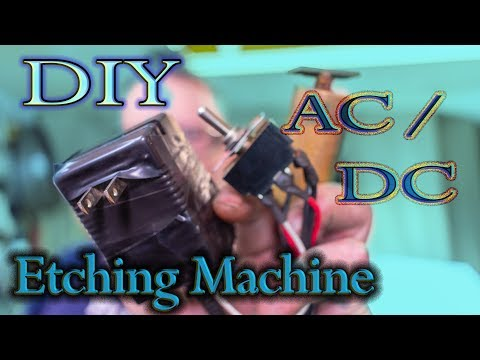 DIY AC/DC Etching Machine from a DC wall adapter