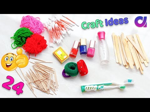 24 Genius crafts idea to make in 5 minutes | Best out of waste | Artkala 475