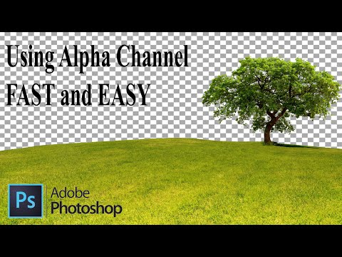 Background Remove Using Alpha Channel. Photoshop Tutorial. EASY & FAST