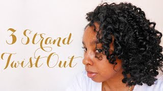 NATURAL HAIR | 3 Strand Twist-Out (1st Attempt) Thumbnail
