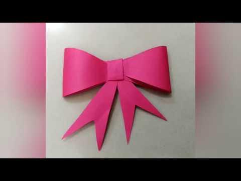 Easy paper bow|paper craft|decoration idea|Quick DIY