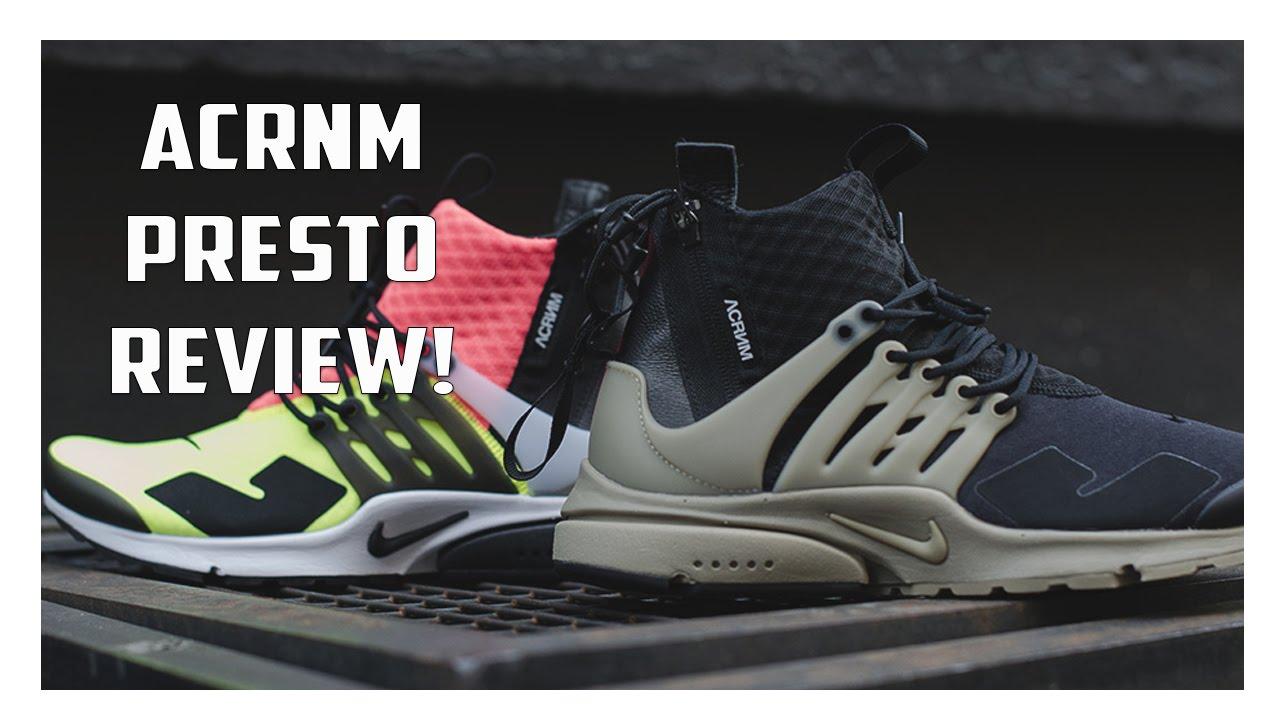 ACRONYM x NikeLab Air Presto Mid Review! - YouTube 3daf1f8b0