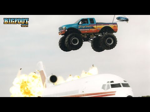 Land Speed Record >> BIGFOOT® #14 with Dan Runte World Record Airplane Jump ...