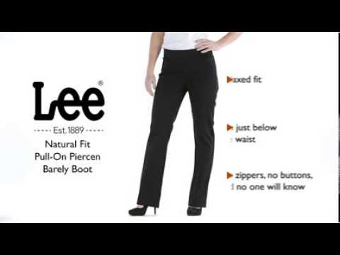 Lee piercen barely bootcut pull on pants