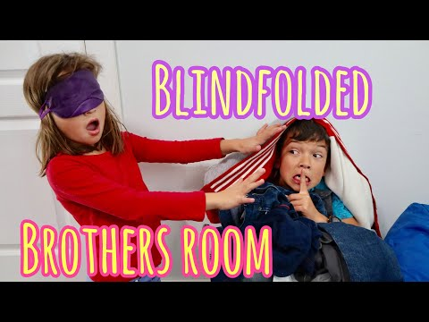 BLINDFOLDED hide-n-go seek in my BROTHERS STINKY bedroom! | with the Ohana adventure!