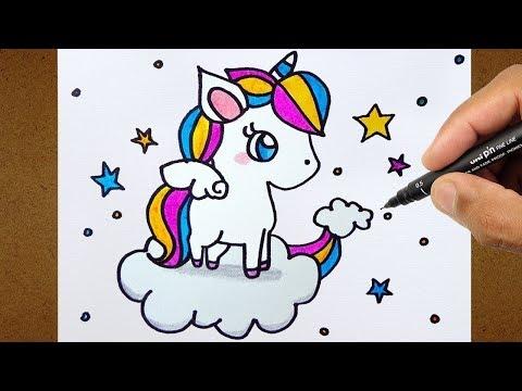 Como Desenhar Unicórnio Kawaii Desenho Lindo E Fácil