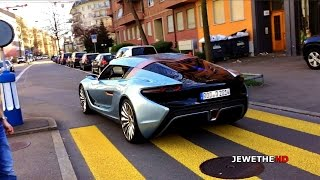 RARE SIGHT: 2016 Quant F NanoFlowCell Car Spotted ON THE ROAD in Zurich! (Better Quality)