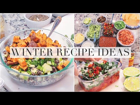 Winter Recipe Ideas: sweet potato quinoa salad, chickpea avocado medley & fish tacos!