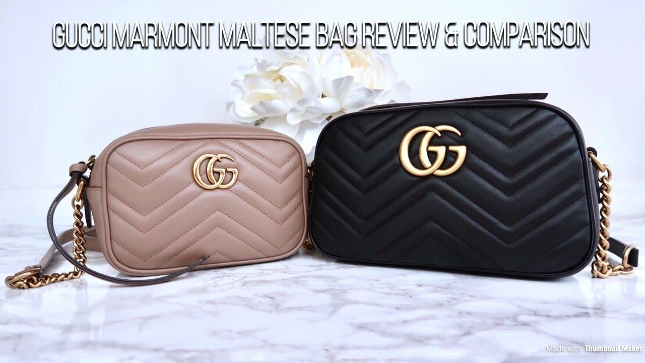 599bc2f99d1d Gucci Marmont Matelasse Shoulder Bag Review & Comparison - YouTube
