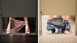 Aus diesem Grund erreichen Türen in öffentlichen Toiletten nicht den Boden!
