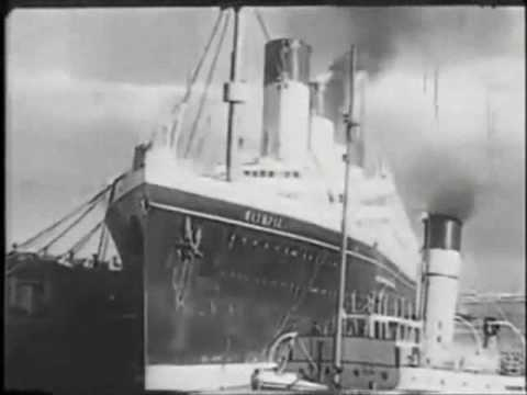 RMS OLYMPIC leaves  Southampton for the  last time 1935