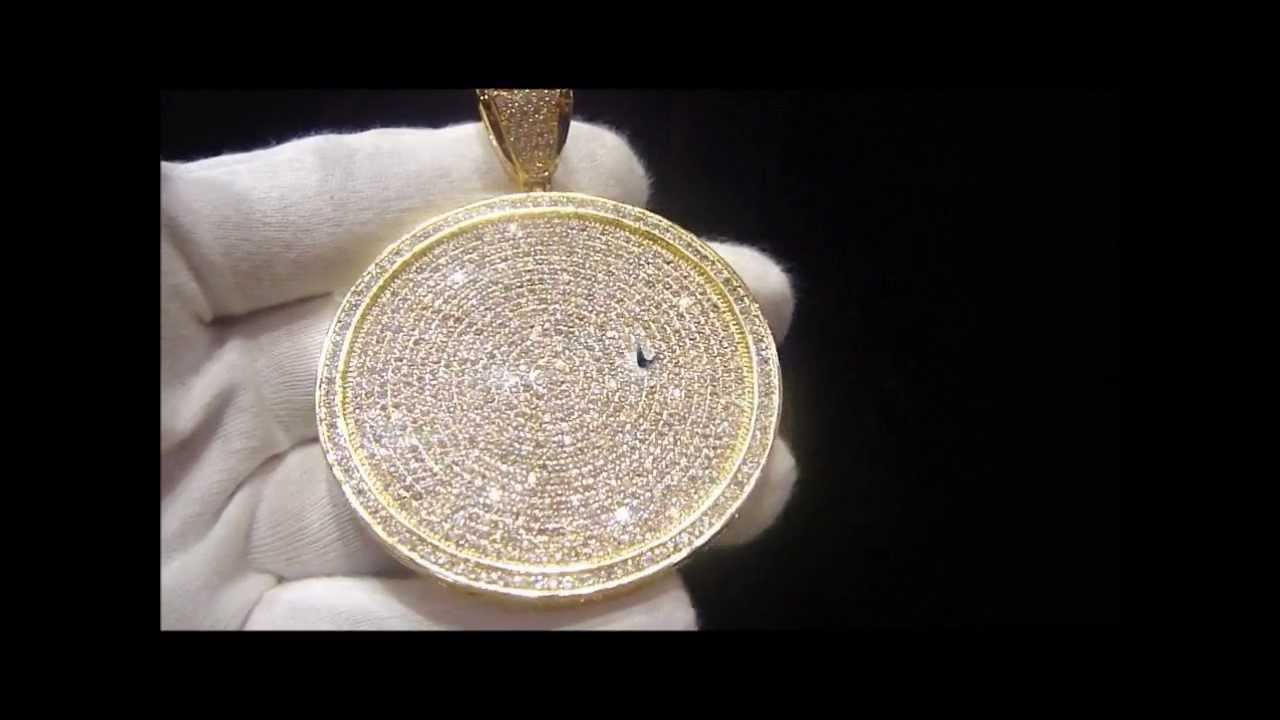 Master of bling lab simulated diamond custom gold circle charm master of bling lab simulated diamond custom gold circle charm pendant hiphop bling youtube aloadofball Image collections