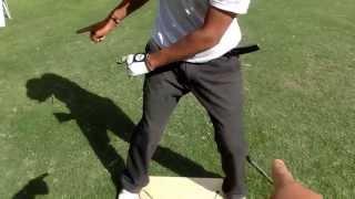 飛ばすゴルフ 腰の切れでハーフショットの練習