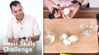 50 People Try To Clean Mushrooms | Basic Skills Challenge | Epicurious
