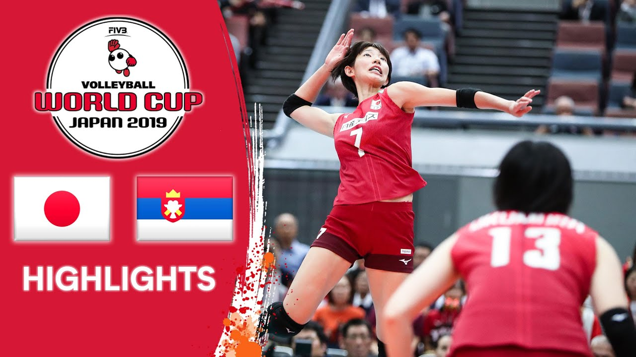 Japan Vs Serbia Highlights Women S Volleyball World Cup 2019 Youtube
