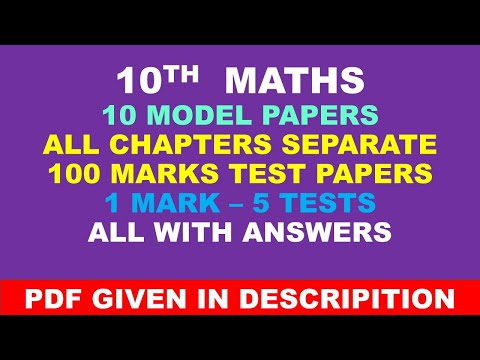 10 maths mp and  chapter test