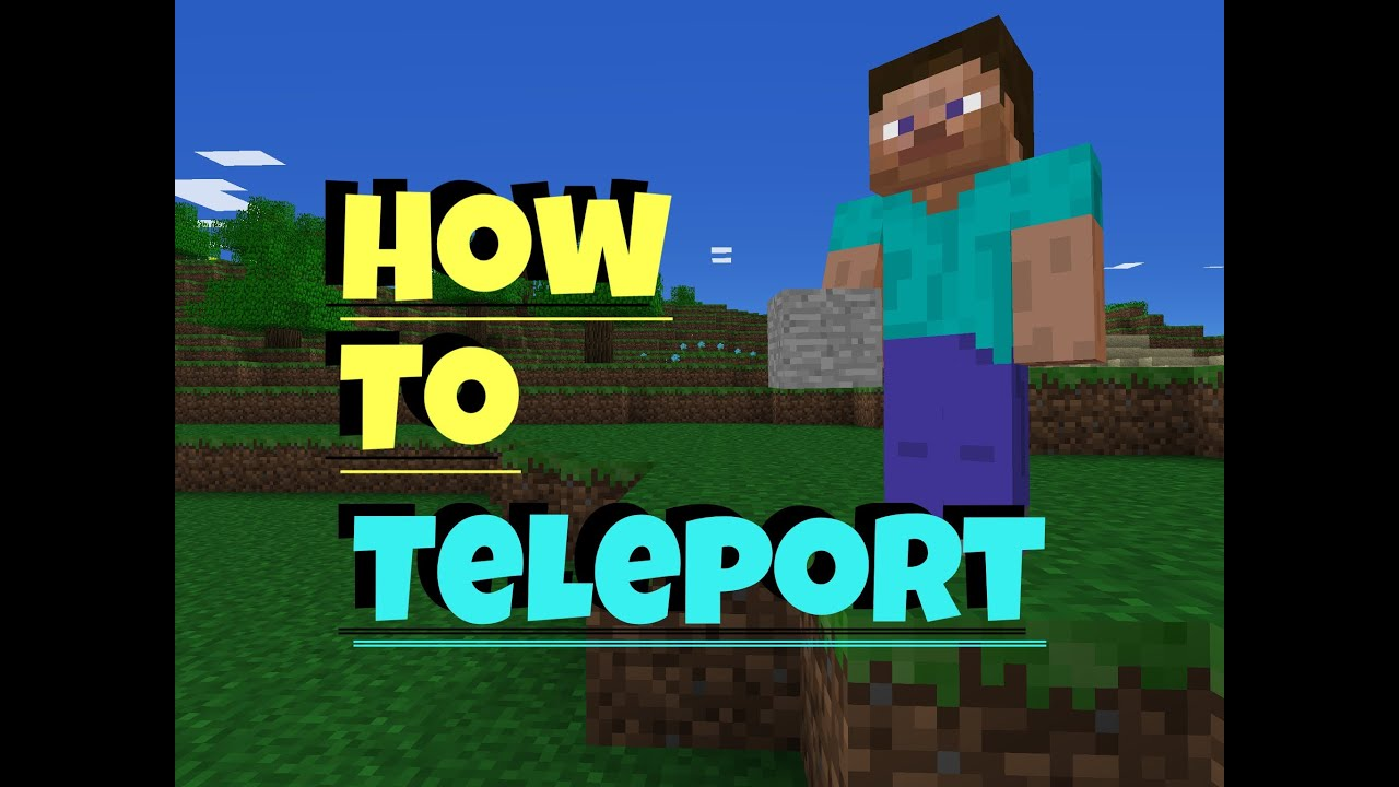 Minecraft PE How To Teleport YouTube - Minecraft spieler teleport
