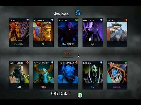 Dota 2 Miracle Slark Moscow epicenter final OG vs newbee