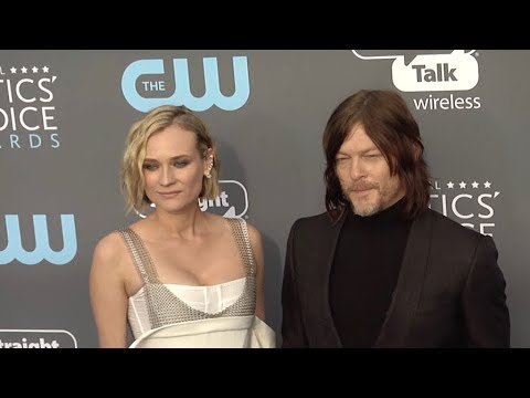 Diane Kruger and Norman Reedus at The 23rd Annual Critics Choice Awards