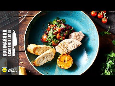 Grilovaný mečoun se salátem z petržele a fazolí - Roman Paulus - Kulinářská Akademie Lidlu