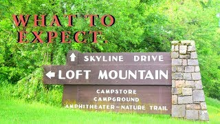 Camping at the Loft Mountain Campground? Here's what to expect.