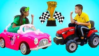 Wendy Vs Andrew Kids Sports Challenge | Fun Kids Video