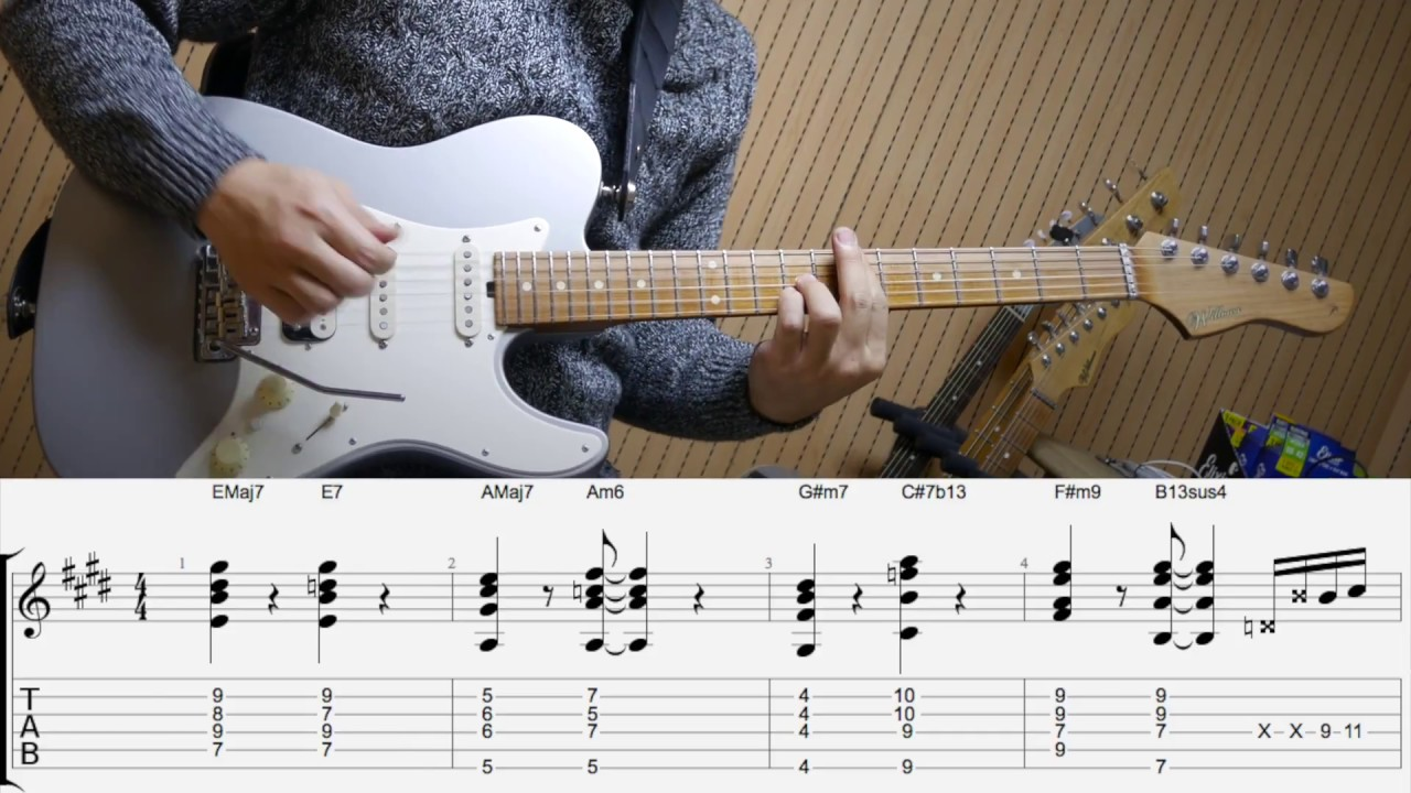 Zion T - Eat : Neo Soul guitar Cover/Remake + TABs By Funkyman