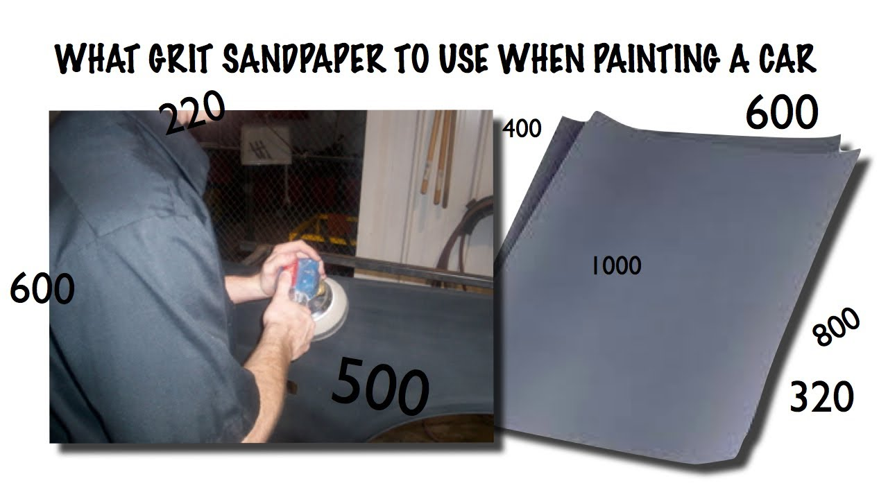 Sand A Car For Paint  What Grit of Sandpaper To Use When