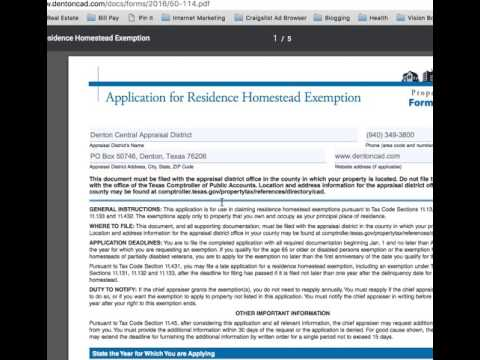 How To File For Homestead Exemption in Denton County - Courtesy of Texas Home Life