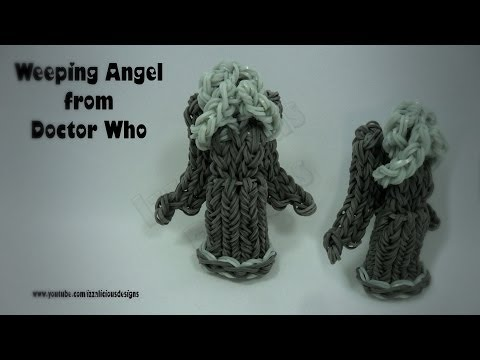 Rainbow Loom Weeping Angels from Doctor Who - Charm/Action Figure - Gomitas
