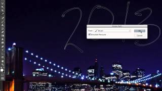Фейерверк Текстовый эффект в Photoshop CS6