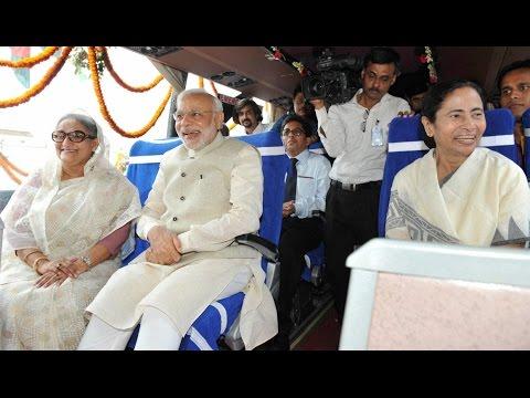 Modi, Hasina, Mamata flag off bus services between India and Bangladesh