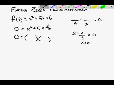 Finding the zeros of a quadratic by factoring.avi