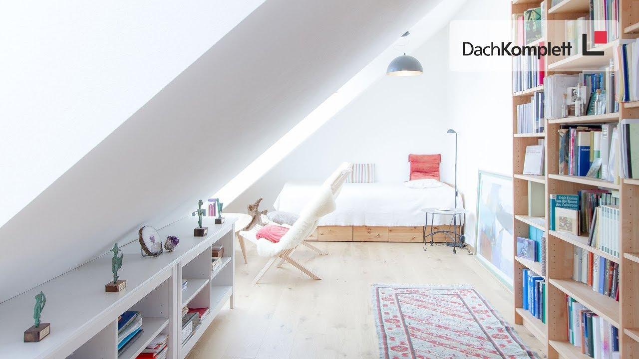 mehr wohnraum und eine lese-oase unterm dach - youtube