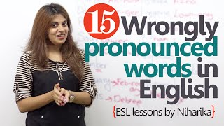 Learn English - 15 wrongly pronounced words in English (English lessons for speaking) thumbnail