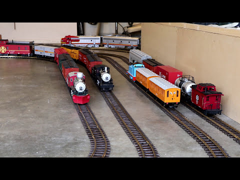 Big model trains take over the entire house!