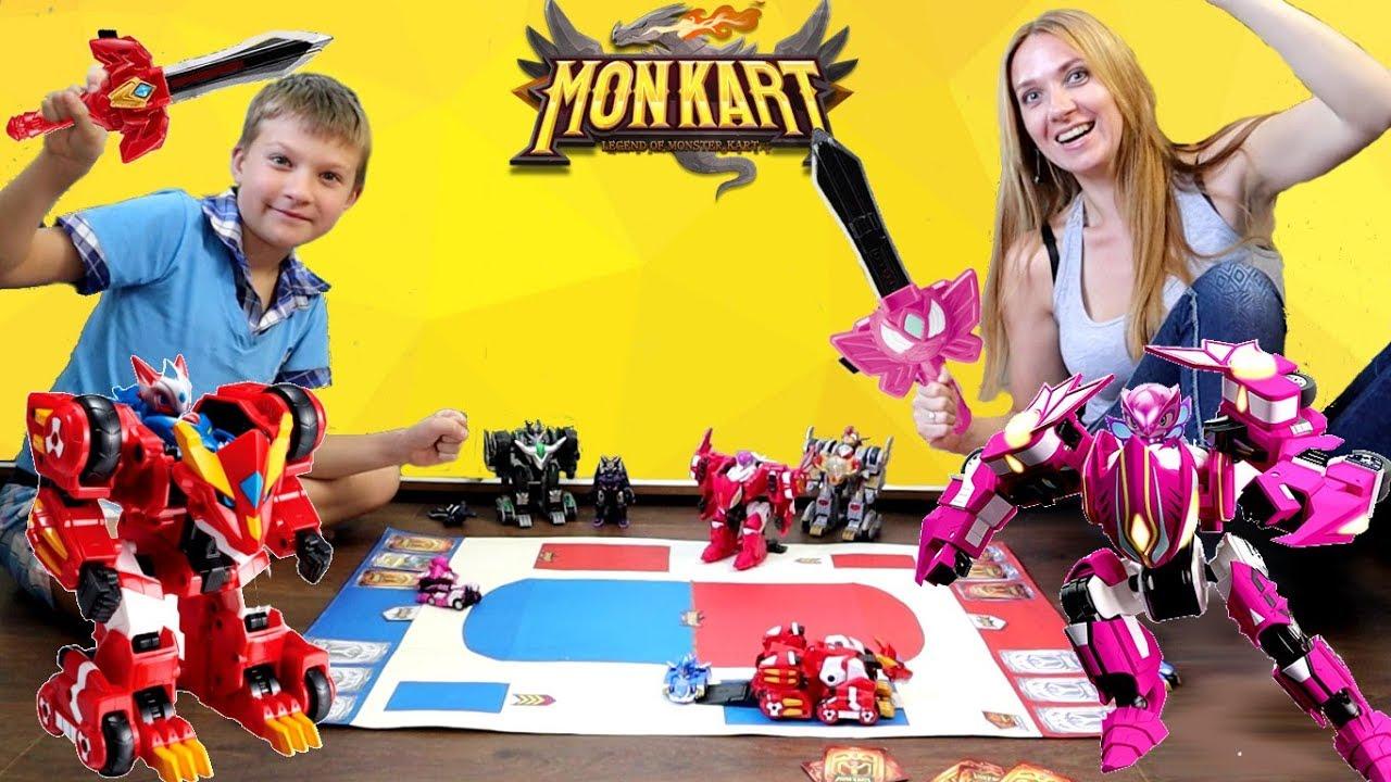 БИТВА Монкарт на игровом поле с КАРТОЧКАМИ! Кто победит в Monkart?