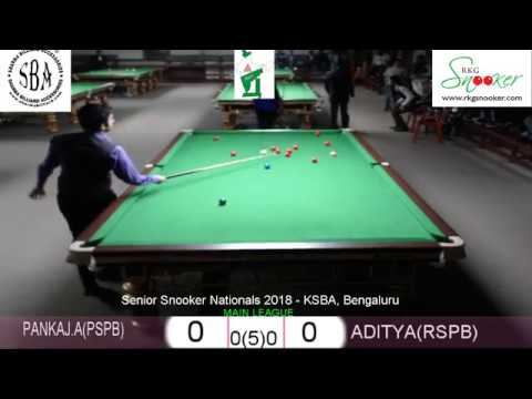 PANKAJ ADVANI (PSPB) vs ADITYA AGARWAL (RSPB) - SENIOR SNOOKER NATIONALS 2018 - MAIN LEAGUE