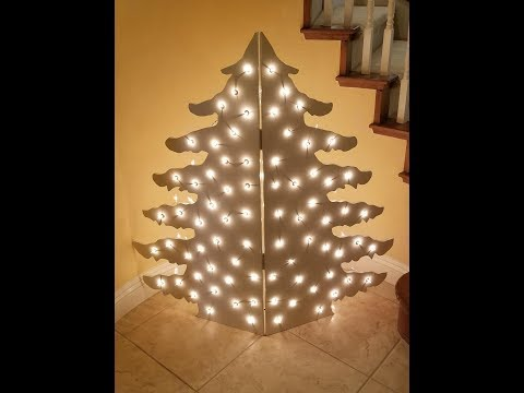 DIY Making a Wooden Christmas Tree with Lights!