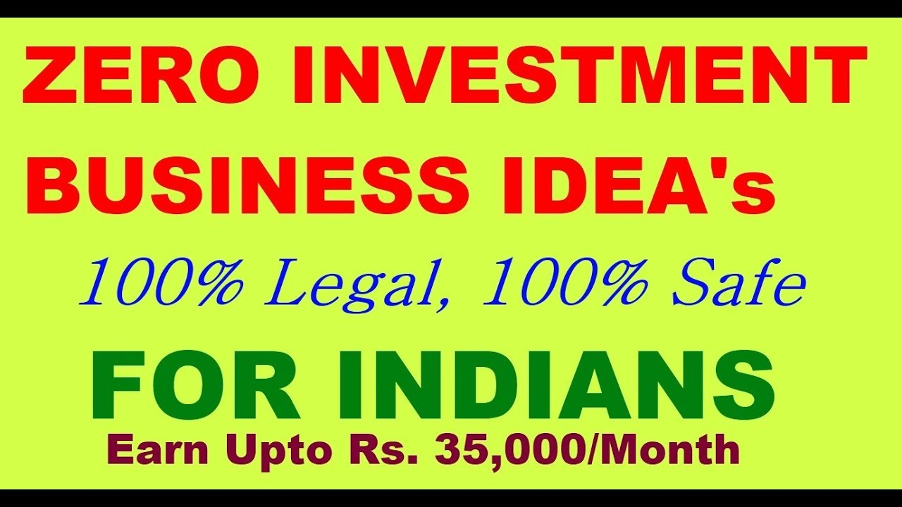 Start Your Own Business Without Investment Zero Investment Business Ideas In India  Hindi