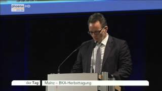 BKA-Herbsttagung: Holger Münch zur Bekämpfung von Kriminalität und Terrorismus am 19.11.2014